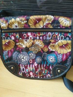 Neuwertige, kleinere Tasche von OILILY zum Umhaengen, leuchtende Farben