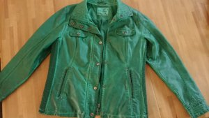 Canda Faux Leather Jacket dark green