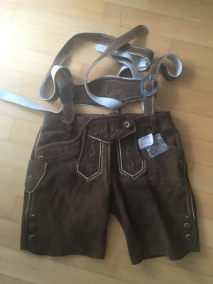Spieht & Wensky Traditional Leather Trousers brown