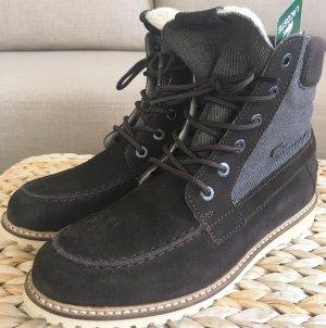 NEUwertige Lacoste Leder Stiefeletten 38 Wildleder Ankle Boots Braun