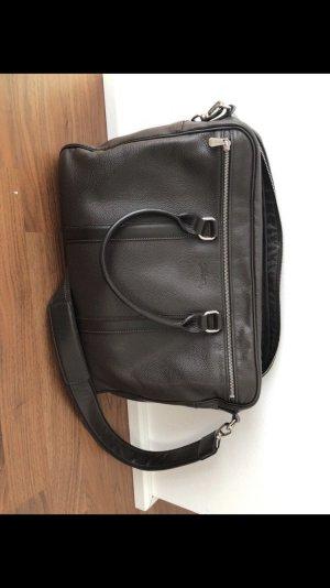 Longchamp Sacoche d'ordinateur brun foncé