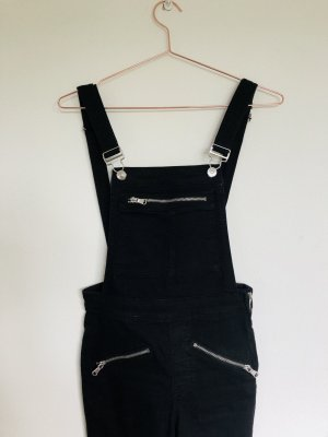 H&M Dungarees black-silver-colored