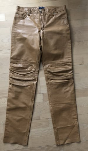 Arizona Leather Trousers sand brown leather