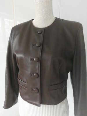 Jacket dark brown leather
