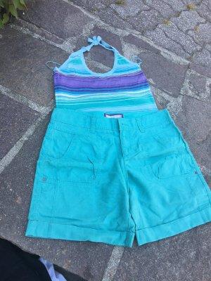 Neuwertige Leinen-Shorts in mintgrün, Hingucker, Gr. 36, ESPRIT