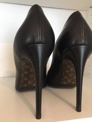 Neuwertige Louis Vuitton Obssesion Pumps schwarz 38,5 mit Rechnung *RARITÄT*