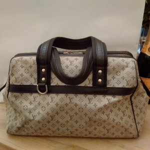 Louis Vuitton Carry Bag camel textile fiber