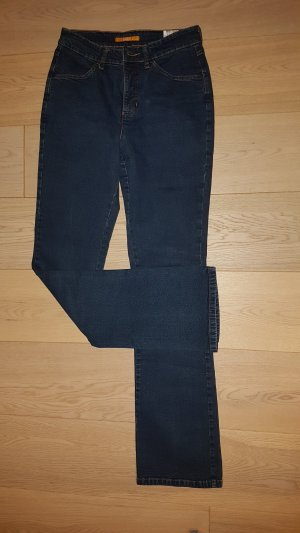 Neuwertige Mac Jeans Angelina 38 / 34 Stretch Denim dark blue Bootcut five pocket NP 99€