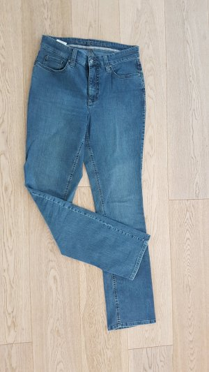 Neuwertige Mac Jeans Melanie 40 / 34 Stretch Denim light blue Bootcut five pocket NP 99€