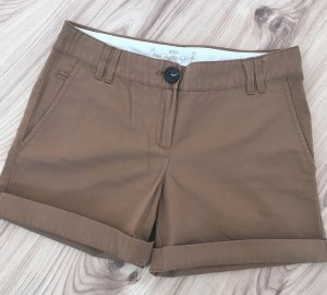 Neuwertige Mango Shorts Cognac Braun Nude Sommerstyle XS 32 34 Hotpants kurze Hose