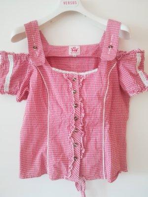 neuwertige, Original SPIETH&WENSKY Carmen-Bluse, mit Spitze, Schnuerung hinten