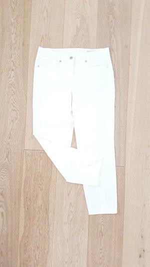 Neuwertige public Caprihose dreiviertel Hose Jeans Gr. 40 Stretch Denim weiß five pocket NP 89 €