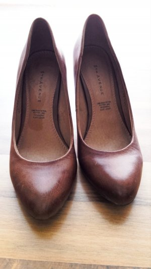 5th Avenue High Heels cognac-coloured