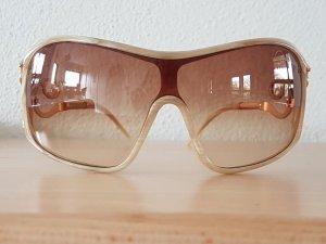 Neuwertige Roberto Cavalli Sonnenbrille NP 300 € cremefarben gold Metall Horn  und Geschenk Missoni Etui Brille