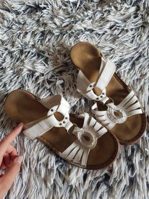 Rieker Sandalias cómodas marrón claro-blanco puro
