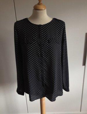 Mango Blusa de manga larga negro-blanco