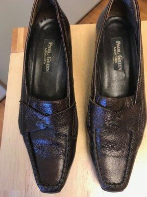 Paul Green Chaussure de travail brun foncé cuir