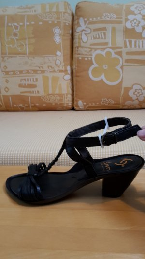 Sandals black leather