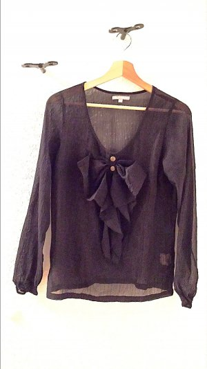 3 Suisses Transparante blouse zwart Polyester