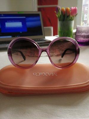 Max Mara Ronde zonnebril mauve