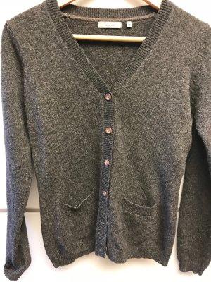 Montego Cárdigan de punto grueso gris antracita lana de esquila