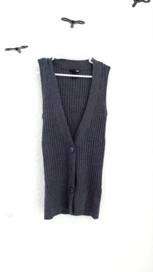 H&M Knitted Vest grey mixture fibre
