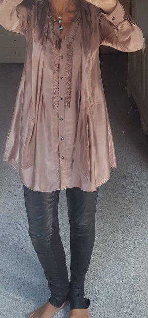 0039 Italy Tunique-blouse gris brun-vieux rose