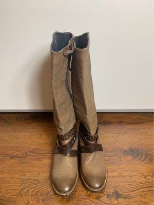 Tommy Hilfiger Denim Wide Calf Boots beige