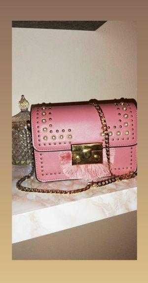 Neuwertige Topshop Schultertasche in Rosa/Pink