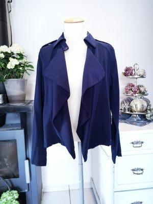 Neuwertige Zara Basic Wasserfall-Jacke Gr S in Marineblau leichte Jacke Sommerjacke