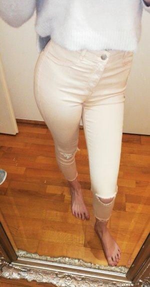 Zara Pantalone crema-rosa pallido