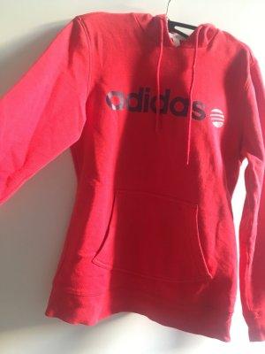 Neuwertiger Adidas Kapuzenpulli in rot