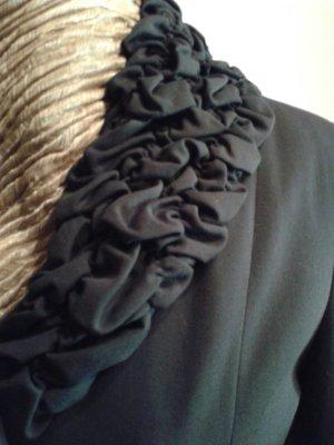 Cartoon Blazer long noir-gris anthracite tissu mixte