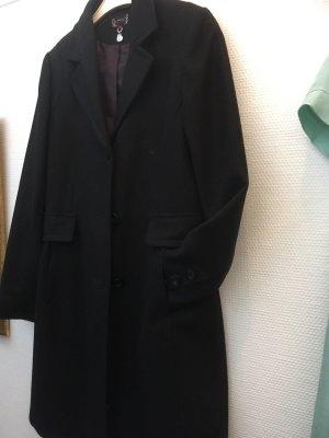 Neuwertiger Blazermantel schwarz, Gr. 36 Wolle
