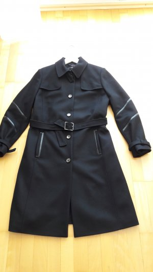 Neuwertiger Boss Wollmantel Cathlin Trenchcoat schwarz in Gr. 44 NP 499,00