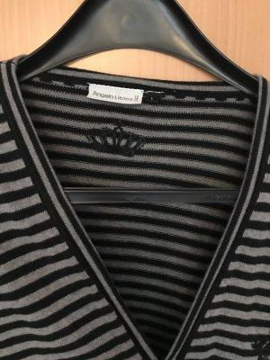 angelo litrico Cardigan zwart-grijs-bruin Katoen