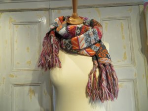 Chiemsee Knitted Scarf multicolored wool