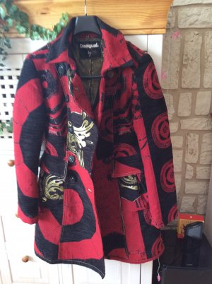 Desigual Short Coat black-red cotton