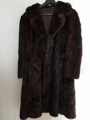 Saga Mink Pelt Coat dark brown pelt