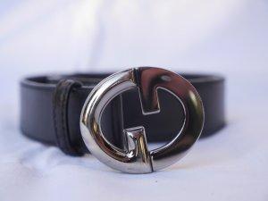 Neuwertiger Gucci Gürtel 85cm lange aus schwarzes Guccissima Leder