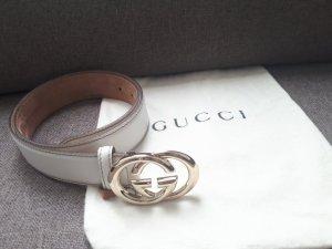 Neuwertiger Gucci Gürtel, offwhite mit Staubbeutel