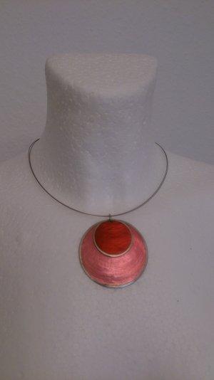 Collier rose-rose