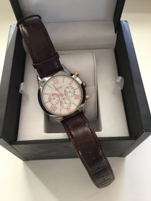 Hugo Boss Watch With Leather Strap multicolored
