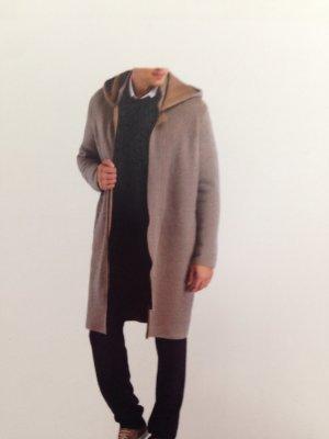 Falke Abrigo con capucha beige-gris