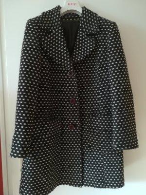 Neuwertiger, kuschelig warmer Mantel aus 70 % Schurwolle, Pepita Muster, breiter Kragen