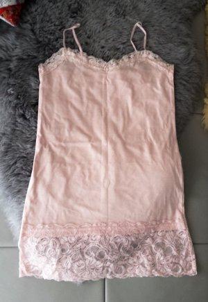 H&M Haut à fines bretelles rosé-crème coton