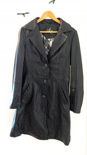 Arma Collection Manteau en cuir noir cuir