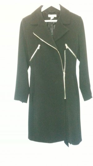 Neuwertiger Mantel im Bikerstil von H&M modern Klassik Gr.38 schwarz TOP