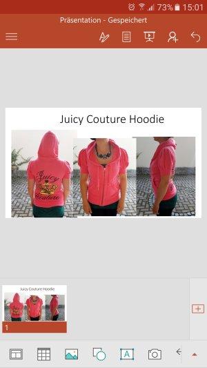 Neuwertiger Pinkfarbener Kurzarm-Hoodie v. Juicy Couture, Gr. 36