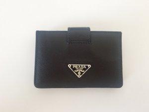 Neuwertiger PRADA Cardholder, Saffiano-Leder, schwarz